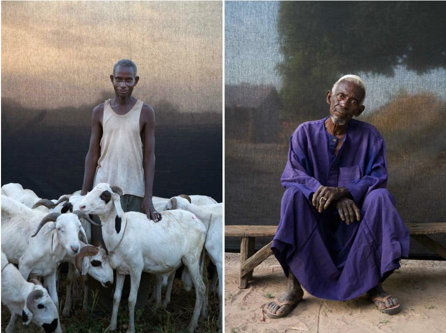 Portraits of Gambian village chiefs and elders © Jason Florio