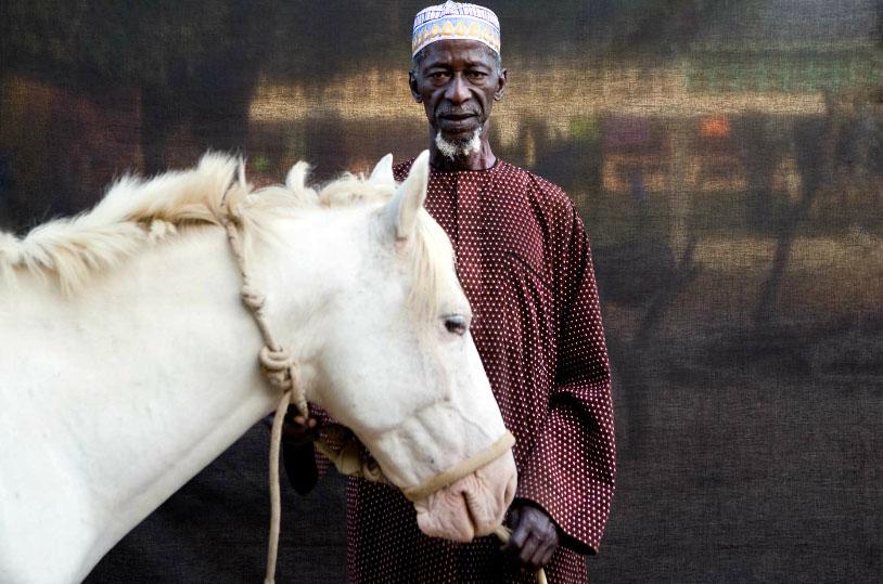 Herouna with his horse