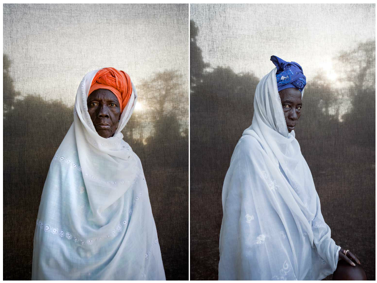 Tourey (the chiefs wife) & R: Kanifana Tourey, Balanghar, The Gambia © Jason Florio