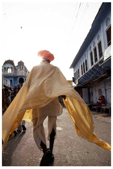'Sardhu Walking in the Holy City of Pushkar' India
