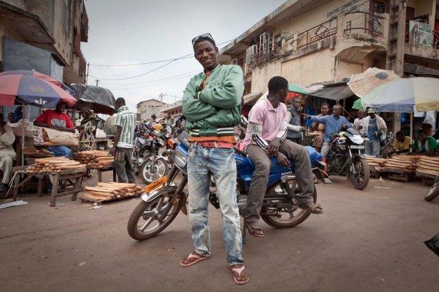 'Moto' boys - Labe, Guinea © Jason Florio