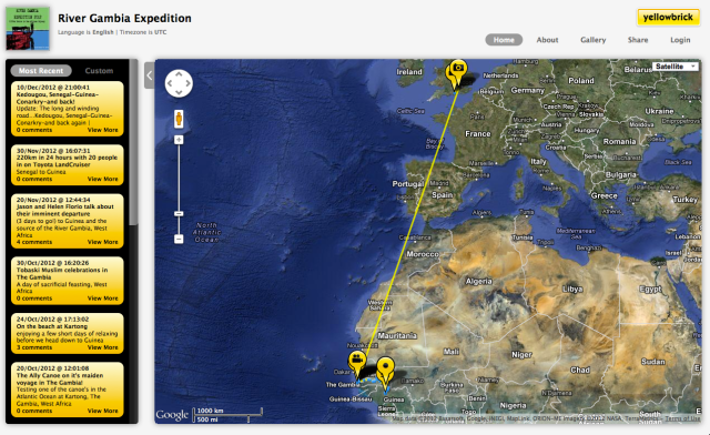 Yellowbrick Tracking - YB3 - Devices. Click on image to visit map